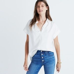 Madewell silk button down shirt